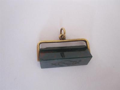 VICTORIAN 15ct GOLD & BLOODSTONE SEAL FOB