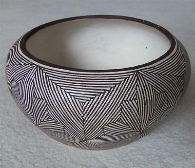 Antique Acoma NM Pottery Bowl by SW Indian Native American Grace Chino