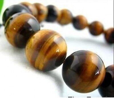 10mm African Roar Tiger's Eye Round Loose Beads 15'' .