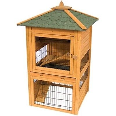NEW LARGE BUNNY RABBIT & GUINEA PIG HUTCH PET ANIMAL CAGE CONDO HOUSE