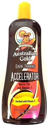 Australian Gold Dark Tanning Accelerator Tanning Lotion Indoor / Outdoor Sun Tan