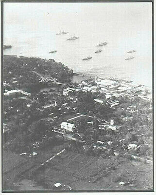 "Aerial Of Hilo Coast Big Island 1920's? 8X10"" Hand Printed Silver Halide Photo"