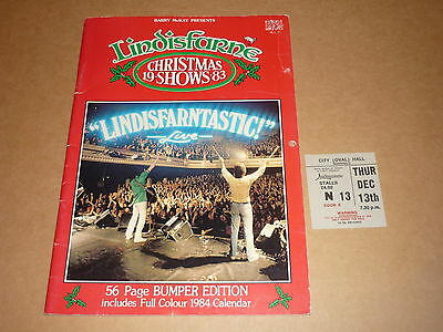 "Lindisfarne ""Christmas Shows"" 1983 UK Tour Programme + Ticket"