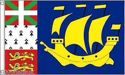 France Saint Pierre and Miquelon Unofficial 5'x3' Flag *** TO CLEAR ***