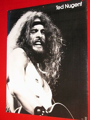 Ted Nugent Vintage 1970s Poster on Heavy Posterboard 24 X 20 Excellent Condition