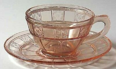 Pink Doric Cup and Saucer