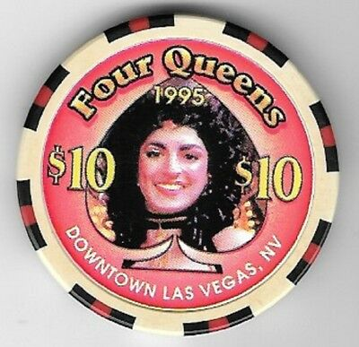 Four Queens Hotel $10.00 Showgirl Spade Casino Chip Las Vegas Nevada