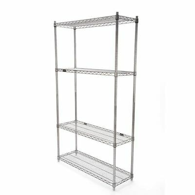 "IRSG Wire Shelving Unit - 14"" x 42"" x 74"""