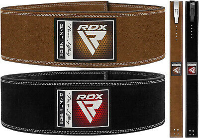RDX Weight Lifting Power Leather Lever Belt Gym Training Powerlifting Straps BK