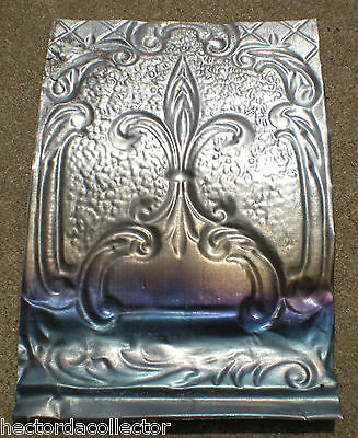 SALE Elegant Antique Ceiling Tin Tile Pie Cupboard Door Stars Fleur De Li Chic