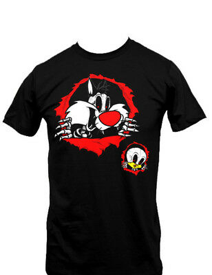 Looney Tunes Sylvester and Tweety Ripping Out T-Shirt, NEW UNWORN