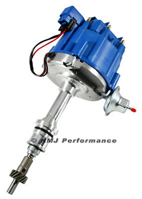 SBF Small Block Ford 351W Windsor HEI Distributor Blue Cap w/ 65k Coil One Wire