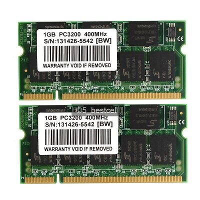 2X1GB PC3200S DDR 400 200 PIN CL3 Memory For DELL Inspiron 9100 Micron 2GB KIT