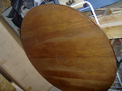48 inch Round Oak Table with Pedestal Base -LOCAL PICKUP