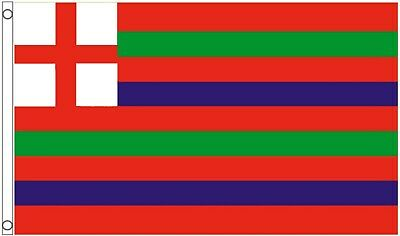 16th Century Green Red and Blue Striped Ensign 5'x3' Flag *** TO CLEAR ***