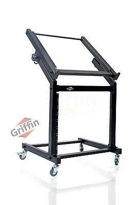Rack mount Studio Equipment Mixer Stand Cart Stage Rolling Gear Effect Amp Music