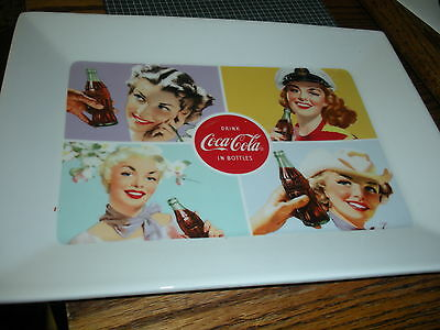New Coca Cola Retro Vintage Style Ladies Ceramic Serving Tray