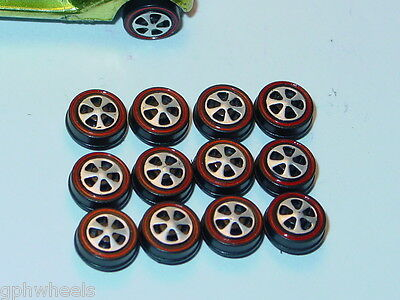 Hot Wheels Redline Red Line US WHEEL TIRE Lot of 12 SMALL Bearing Style -NICE