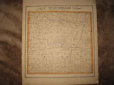 Antique 1874 Windham Franklin Township Portage County Ohio Handcolored Map Nr