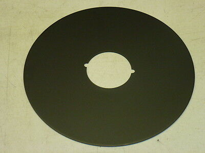 "VINTAGE 8"" DIAMETER DOOR ESCUTCHEON, Finish: US19, MATTE BLACK"
