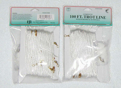 TWO (2) 100FT DOLPHIN NYLON TROT LINES