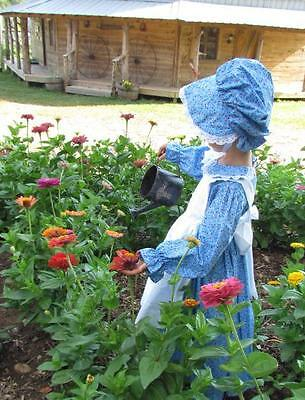 Handmade Historical Costumes Pioneer Girl Colonial ~Peach Prairie Dress~ 4/5