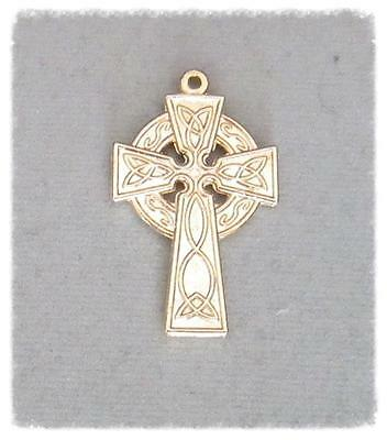 CROSS Celtic Making Rosary Crucifix Supplies Parts ITALY C153 finish GOLD