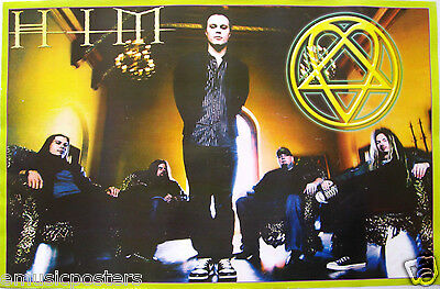 """HIM MEXICAN POSTER """"VALO STANDING & GROUP SITTING WITH HEARTAGRAM"""" - Love Metal"""