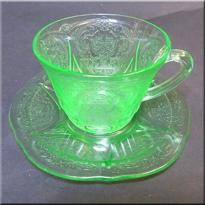 Green Royal Lace Cup and Saucer