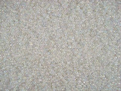 Seed Beads 2mm Clear AB 50g Glass 10/0 Jewellery Craft Sewing FREE POSTAGE