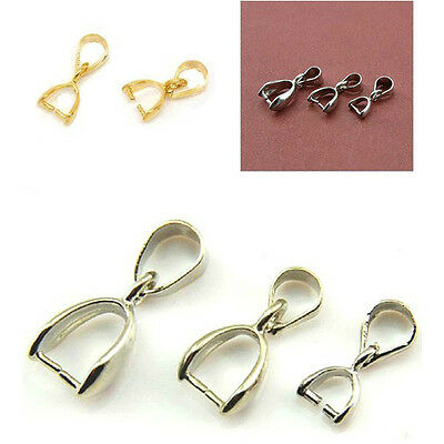 Pinch Clip Bail Beads Jewelry Findings Quantity Colour/Size Choose