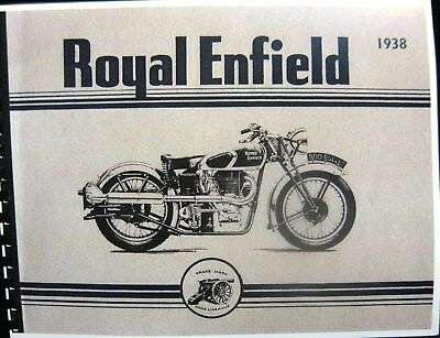 1938 Royal Enfield Motorcycles Sales Manual - Book Complete and Illustrated  FSH