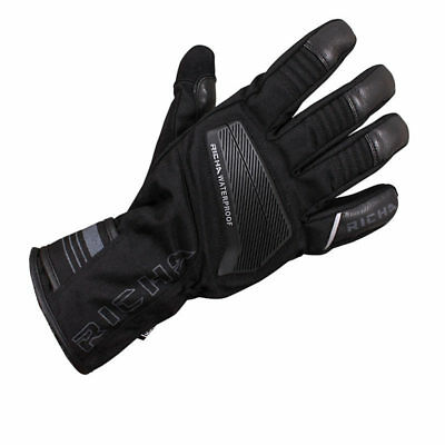 Richa Cave Leather Textile Waterproof Wp Hipora Motorcycle Scooter Bike Gloves