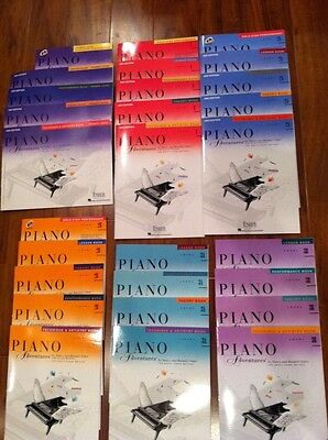 NEW FABER PIANO ADVENTURES 28 BOOK PACK PRIMER, LEVEL 1, 2A, 2B, 3A, 3B