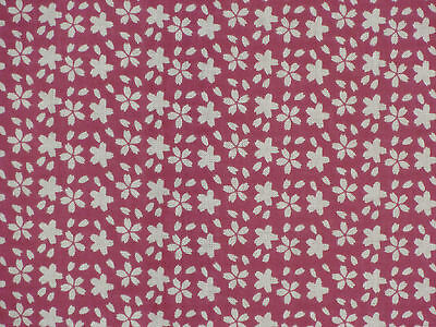 Tenugui Towel Japanese Fabric Cotton Gauze 'Fuschia Cherry Blossoms'