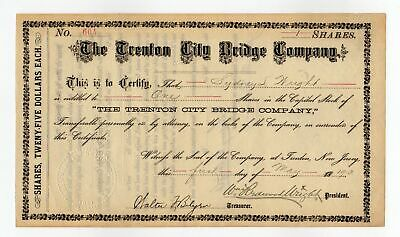 1913 Trenton City Bridge Company stock