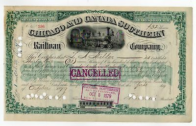Chicago & Canada Southern Railway - Vanderbuilt signed