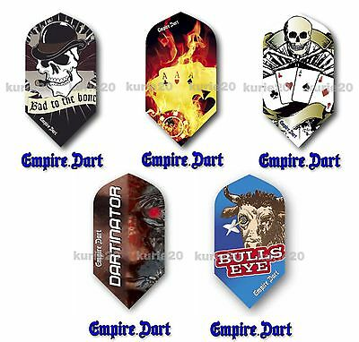 5 Sets Empire Dart Flights Flys Flight 5 verschiedene Motive 15 St. slim