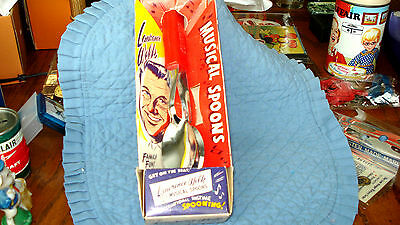 Lawrence Welk Musical Spoons MIB, And Mini Key Chain Knife