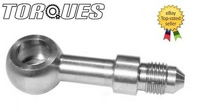 AN -4 (4AN AN4) Male Long Straight Stainless Steel Banjo Fitting. Brake 10mm I.D