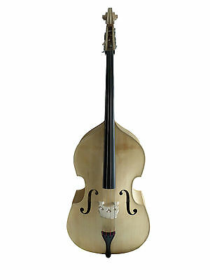 Double Bass, 4/4 size, half-carved, lefthand Natural/Blonde new