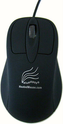 ValueRays® Heated Mouse, Warm Mouse, Mouse Hand Warmer, Warming, Warmer, Black