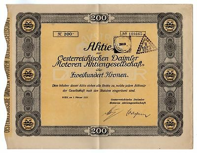 Austrian Daimler Motors Bond w/coupons