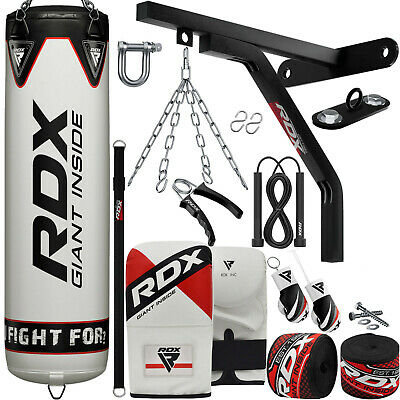 RDX 5FT Heavy Filled Punch Bag Set Boxing Gloves MMA Punching & Pads Training XI