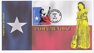 Jvc Cachets -2013 Lydia Mendoza Singer Texas Mexican Music First Day Cover Fdc#2