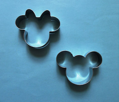 Mickey Mouse and Minnie Mouse Baking Biscuit Cookie Cutter mold set