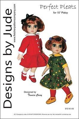"""Pleated Dress Doll Clothes Sewing Pattern 10"""" Patsy & Ann Estelle Tonner"""