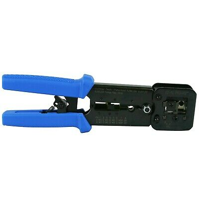 Platinum Tools 100054C EZ-RJPRO HD Professional Crimp Tool w/ Blue Comfort Grip