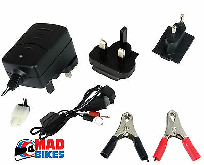 Motorbike Scooter Battery Trickle Charger  With Auto Cut Off 6 Volt & 12 Volt