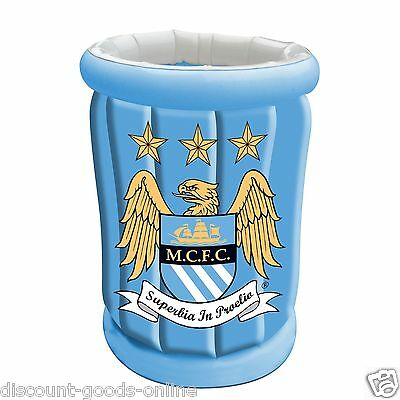 Official Manchester City Fc Inflatable Drinks Ice Cooler Beer Man City